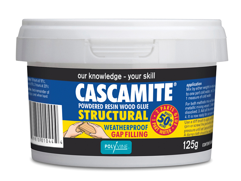 Polyvine Cascamite One Shot Structural Wood Adhesive Tub 125g CAS125G