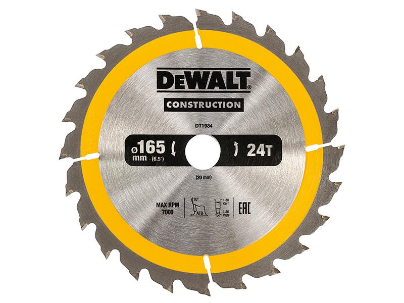 DEWALT-costruzione-Lama-165-x-20mm-x-24T-DEWDT-1934QZ